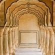 Colonnato ad Amber Fort nei pressi di Jaipur, in rajasthan, India