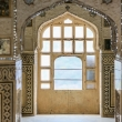 Interni dell' Amber Fort nei pressi di Jaipur, in Rajasthan, India