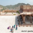 Interno all'Amber Fort nei pressi di Jaipur, in Rajasthan, India