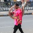 Musicista per le strade di Jaipur, in Rajasthan, India