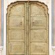 Portone al Royal Palace a Jaipur, in Rajasthan, India