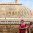 Turiste all'Amber Fort nei pressi di Jaipur, in Rajasthan, India