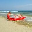 Bagnino presso la spiaggia di Marina di Ravenna