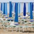 Ombrelloni presso la spiaggia di Marina di Ravenna