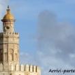 Particolare della Torre dell'Oro di Siviglia in Andalusia, Spagna