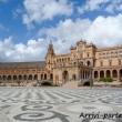 Plaza de Espana di Siviglia in Andalusia, Spagna