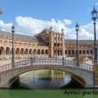 Ponte in Plaza de Espana di Siviglia in Andalusia, Spagna