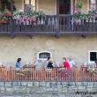 Pub sulla Riva del fiume Moldava a Cesky Krumlov, Repubblica Ceca