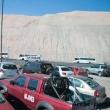 Fuoristrada presso la Miniera di rame di Chuquicamata, Cile