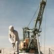 Gru presso la miniera di rame di Chuquicamata, Cile