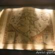 Mappa geografica all'interno del Museo del Mare Galata, Genova