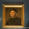 Ritratto di Cristoforo Colombo all'interno del Museo del Mare Galata, Genova