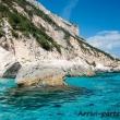Sagoma di una pinna nel Golfo di Orosei, Sardegna