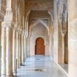 Interni dell'Alhambra di Granada in Andalusia, Spagna