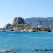 Isolotto lungo la costa di Kos, Grecia