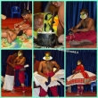 Preparazione trucco e costume per la rappresentazione, Kerala Kumily