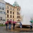 Fontana di acqua calda a Karlovy Vary, Repubblica Ceca