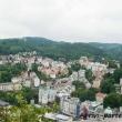 Vista di Karlovy Vary da Jelenì Skok, Repubblica Ceca