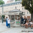 Negozio di souvenir a Karlovy Vary, Repubblica Ceca