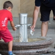Sorgente di acqua calda a Karlovy Vary, Repubblica Ceca