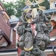 Statua nel centro storico di Karlovy Vary, Repubblica Ceca