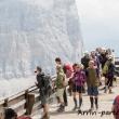 Escursionisti presso il Rifugio Lagazuoi, Veneto