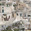 Turisti presso il Sasso Caveoso, Matera