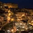 Vista notturna del Sasso Barisano, Matera