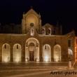 Vista notturna della Parrocchia San Giovanni Battista, Matera