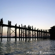 Ponte di legno di Amarapura, Myanmar