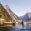 Kayak nel Fiordo di Milford Sound, Nuova Zelanda