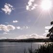 Tramonto presso il lago Taupo, Nuova Zelanda