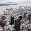 Vista di Auckland dalla Sky Tower a Auckland, Nuova Zelanda