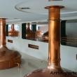Bollitori di rame all'interno della fabbrica della birra di Pilsen, Repubblica Ceca