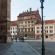 Facciata dei palazzi storici di Pilsen, Repubblica Ceca