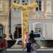 Fontana nel centro storico di Pilsen, Repubblica Ceca