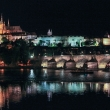 Vista notturna di Ponte Carlo, Praga