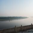 Vista del Fiume Yamuna dal Taj Mahal ad Agra, India