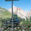 Panchina presso la Capanna Alpina - rifugio Fanes, Val Badia