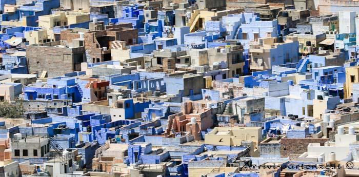 Jodhpur, cosa vedere e dove dormire abitazioni blu