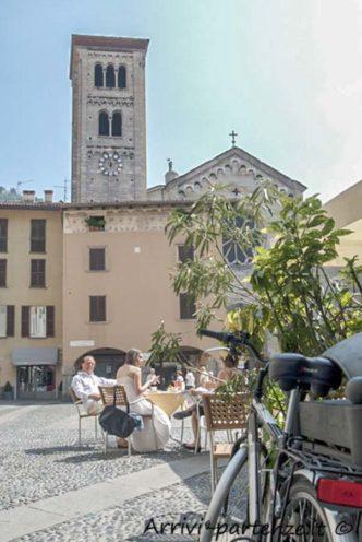 Piazza S.Fedele a Como, Italia