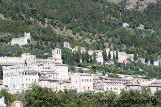 Vista panoramica di Gubbio , Umbria