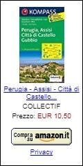 Cartina di Perugia, Assisi, Città di Castello e Gubbio