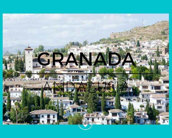 Vista di Granada in Andalusia