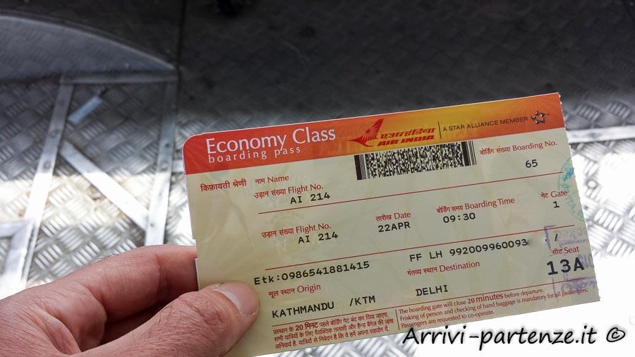 prezzo di un biglietto aereo