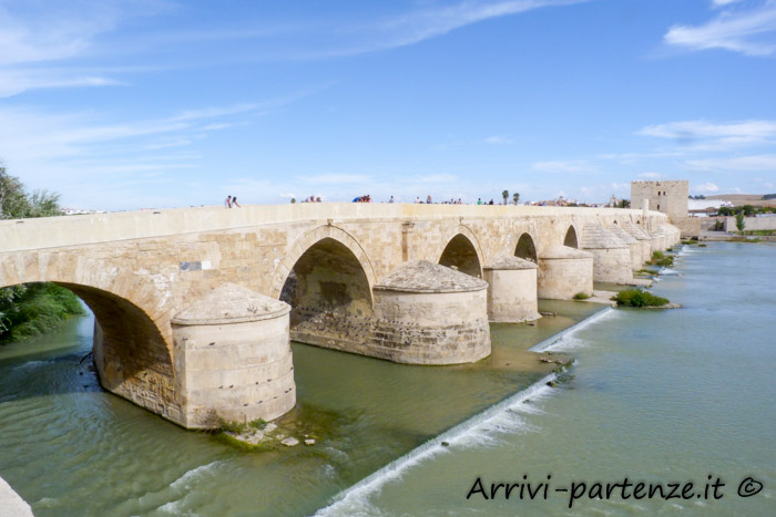 Ponte romano di Cordova in Andalusia, Spagna