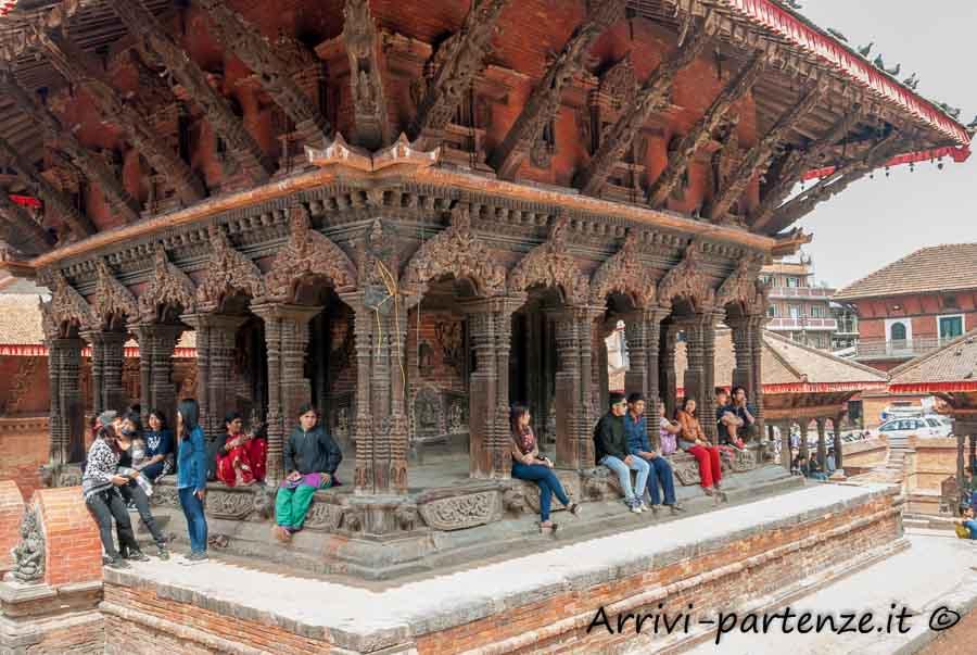 Tempio in Durban Square a Patan, Nepal