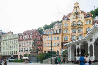 Antichi edifici di Karlovy Vary in Repubblica Ceca