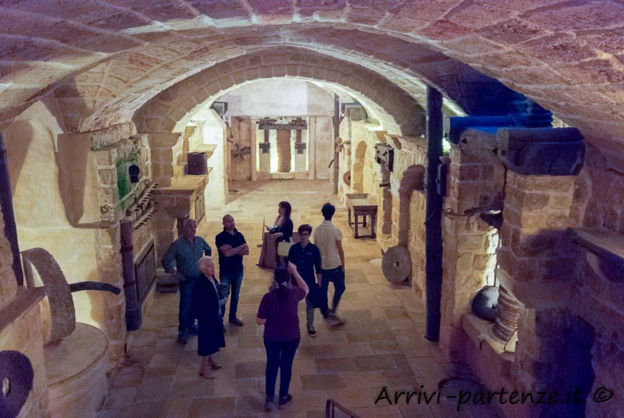 Antico frantoio all'interno della Masseria Le Stanzie di Supersano, Puglia
