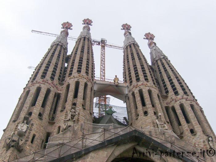 La Sagrada Famiglia a Barcellona, Spagna